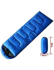 Multifunción Camping Senderismo Bolsas de dormir Accesorios Esteras Quilts- Royal blue
