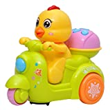 #7: Toyshine Musical Duck Toy with Friction Movement, Interactive Toy, Bump and Go