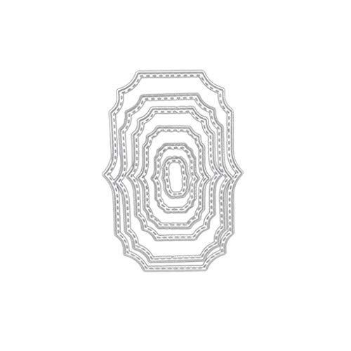10 Stück Metall Herz Form Stanzschablonen Metall Schneiden Schablonen Stanzformen Silber für DIY Scrapbooking Album,