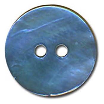 Lotto di 6 Bottoni in Madreperla 22 mm Colore: Blu M /& C
