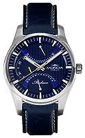 Mondia Italia Madison MI745-2CP, reloj de pulsera de hombre, multifunción, correa de piel auténtica piel de avestruz.