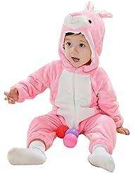 MissFox Unisex Bebé Niñas Niños Ropa de Noche Animal Carnaval Disfraz Cosplay Kigurumi Pijamas