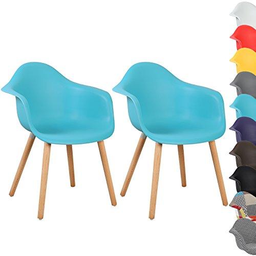 WOLTU® #499 Esszimmerstühle 2er Set Esszimmerstuhl mit Lehne Design Stuhl Küchenstuhl Holz Schwarz