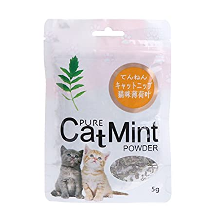 Yanhonin Catnip Katzenminze Ball Bio Kauspielzeug für Katzen