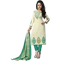 Vaamsi Women's Synthetic Dress Material (Deep1022_Beige_One Size)