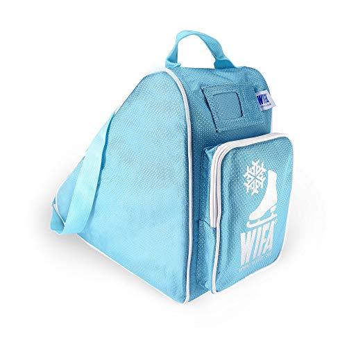 WIFA Eislauftasche Schlittschuhtasche für Kinder und Erwachsene (eisblau)