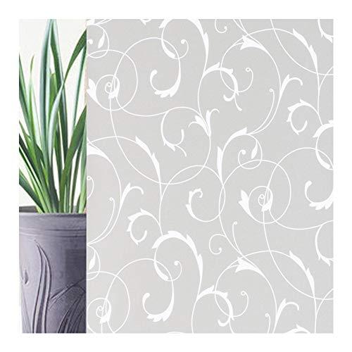 rabbitgoo Pellicola Smerigliata per Finestre Vetri-Fiori Decorativo, Autoadesive, Anti-UV90CMx200CM