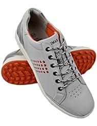 Zerimar Zapato de Golf Fabricado EN Piel de Vacuno Deportivo Cómodo Zapatillas de Running Casual
