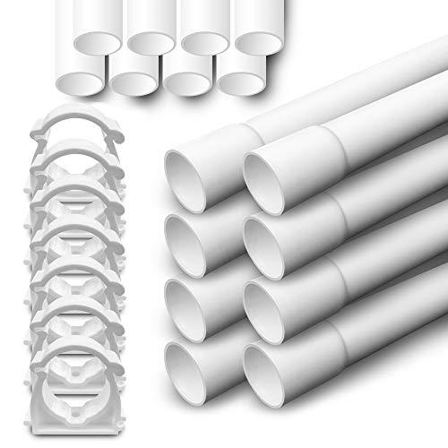 Elektrorohr M20 Stangenrohr 24m Leerrohr PVC Kabelrohr 50 Klemmschelle ARLI