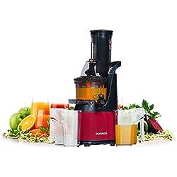 Oursson Vitality Extracteur de Jus de Fruits et Légumes avec Tarière, Technologie de Pressage à Froid, 1 litre, 240 Watts, Bordeaux, JM6001/DC