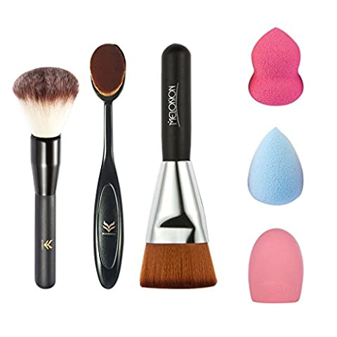 LUFA 6Pcs / set Brosse à maquillage professionnelle Blush Eyeliner Powder Push Brush