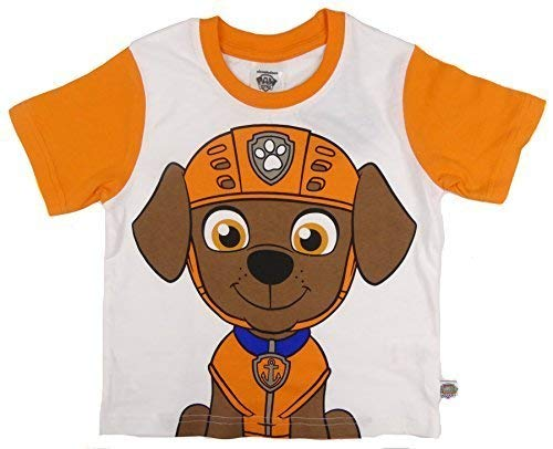 Childrens Character Paw Patrol T-Shirts Marshall Chase Zuma oder Rocky Vier zur Auswahl 2-3 to 6 - Orange Zuma, 110-116
