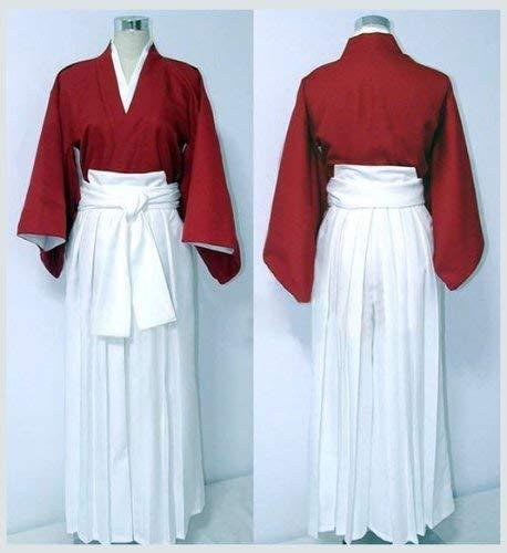Sunkee Rurouni Kenshin Cosplay Himura Kenshin Rot Kimono Kostüm, Größe M ( Alle Größe Sind Wie Beschreibung Gesagt, überprüfen Sie Bitte Die Größentabelle Vor Der Bestellung ) (Kenshin Himura Cosplay Kostüm)