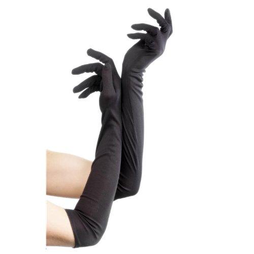 Handschuhe schwarz Handschuhe lange schwarze lang Halloween (Handschuhe Kostüme Lange)
