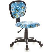 Preisvergleich für hjh OFFICE 670185 Kinder-Drehstuhl KIDDY TOP Stoff-Bezug Blau Aquarium Fische Schreibtischstuhl Ergonomisch