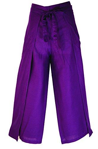 Guru-Shop Wickelhose - Lila, Herren/Damen, Violett, Viskose, Size:One Size, Wickelhosen Alternative Bekleidung (Pants Band-thai Fisherman)