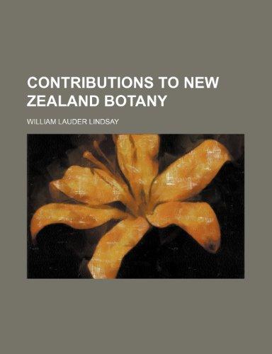 Contributions to New Zealand botany