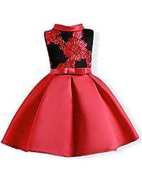 9fe262105 LZH Vestido de Niñas Boda Fiesta de Princesa Encaje de Flor Cóctel Vestido