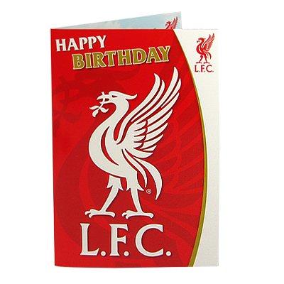 Liverpool F.C. Geburtstagskarte, mit Musik LB- musical Geburtstag Karten: ca. 22,5 x 15,5 x 15,5 cm, mit Nachricht 'have a great day à aus der kop '- Offizielles FußBall-Merchandising-Produkt