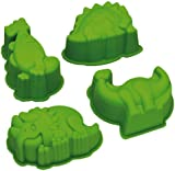 Kitchen Craft Let's Make Kitsch n Fun Dinosaur Shaped Silicone Cake/ Jelly Moulds