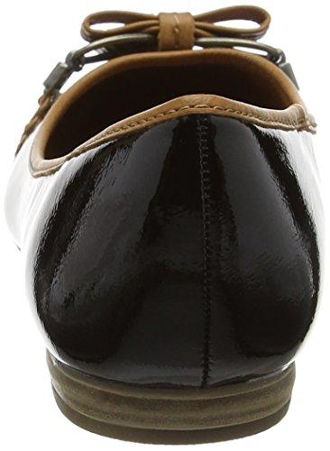 Marco Tozzi Damen 22138 Geschlossene Ballerinas Schwarz (Black Comb 098)