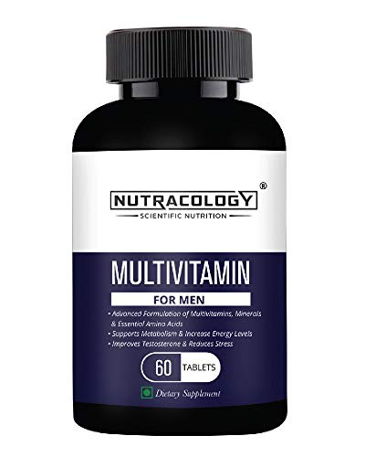 Nutracology Multivitamin for men with Vitamin, minerals and Antioxidants 60 Tablets