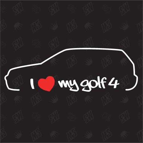 speedwerk-motorwear I Love My Golf 4 - Sticker, MK4, Bj.97-03
