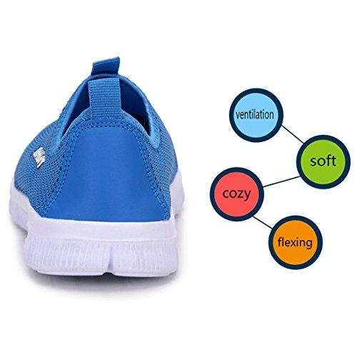 YUHUAWYH Sneakers Herren Outdoorschuhe Walkingschuhe Blau