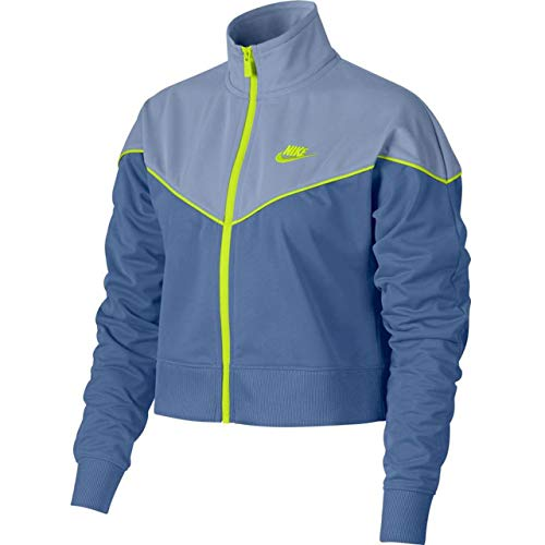 Nike Damen Heritage Track Jacket Pk Trainingsjacke, Storm/Indigo Fog Cyber, M - Nike Jacket Frauen Track