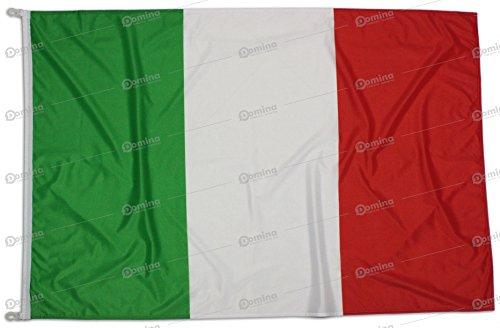 Bandiera italia 100x70 cm in tessuto nautico antivento da 115g/m², bandiera italiana 100x70 lavabile, bandiera 70x100 con moschettoni o cordino, doppia cucitura perimetrale e fettuccia di rinforzo