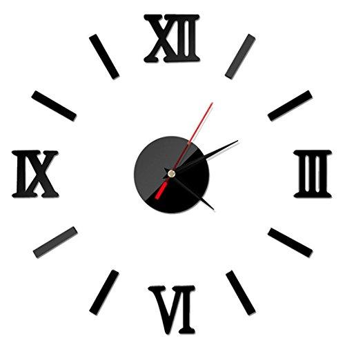Reloj pared 3d números adhesivos diy bricolaje moderno