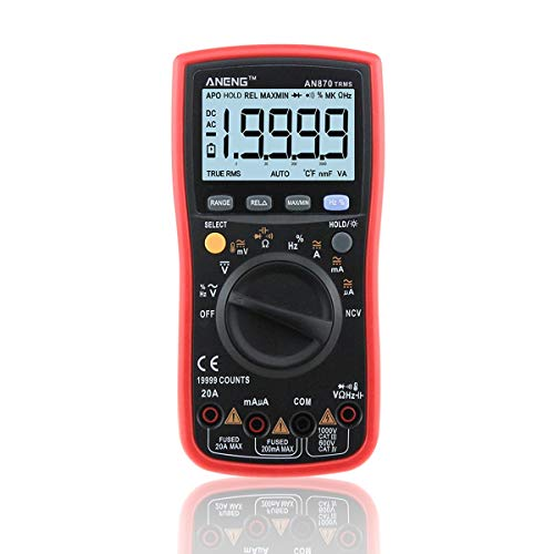 HaiQianXin Multifunktionales ANENG AN870 True-RMS-Auto-Range-LCD-Digital-Multimeter-Amperemeter-Strommessgerät