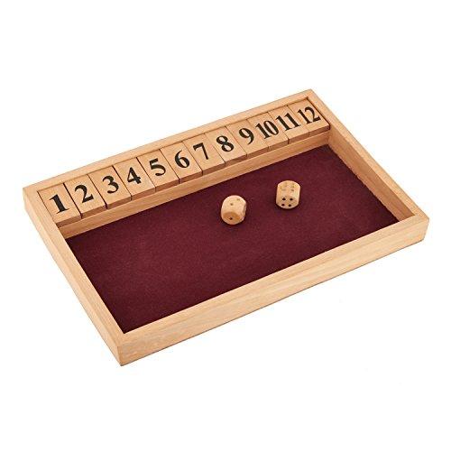 Wooden Shut The Box Spiel für Kinder -Mango Holz Ein perfektes Geschenk für Sie oder ihn, Kinder, Kinder, Mädchen, Junge