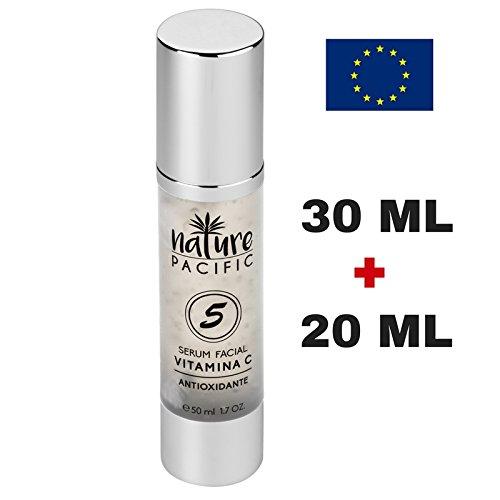 Feuchtigkeitsspendendes Serum fürs Gesicht, Anti-Aging für das Gesicht, Antioxidant, reduziert Falten auf der Haut, Vitamin C, 50ml, nicht fettend, gesunde und junge Haut.