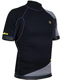 54731825 Nookie 2019 Ti 1MM Neoprene Short Sleeve Vest Top Black/Grey/Yellow