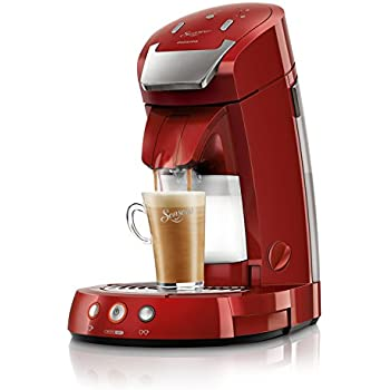 Philips Senseo HD7854/80 Latte Select Kaffeepadmaschine, 2650W, 1.2L, rot
