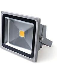 Auralum® 2 ans de Garantie 20w LED Projecteur LED Spot Extérieur 1700Lumen 230V IP65 3000K Blanc Chaud