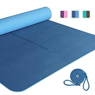 UMI. by Amazon – Yoga Mat Colchoneta Yoga Antideslizante Eco TPE Extra Suave con Double Capas