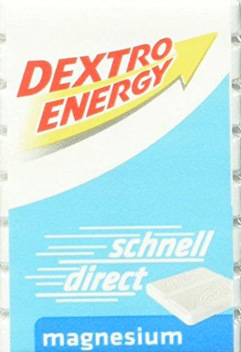 Dextro Energy Würfel Magnesium / Je 8 Dextrose-Täfelchen mit schnell verfügbarem Traubenzucker und zusätzlichem Magnesium / Geeignet für den Sport / 9 Packungen (9 x 46g)