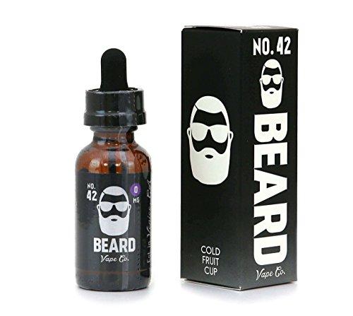 Preisvergleich Produktbild Beard Vape - No. 42,  Ananas,  Pfirsich und auch etwas Kirsche..10ml fertiges E-Liquid / Base 70VG / 30PG I 0mg Nikotin I für E-Zigarette / E-Shisha
