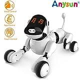 Giocattolo Cane Robot Intelligente, Robot Ricaricabile Programmabile Intelligente Interattivo Giocattoli Cuccioli Voce App Toccare Controlled con Altoparlante Bluetooth per Ragazzi Ragazze Bambini