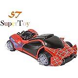 SuperToy(TM) Flashing LED Spider Stunt Toy Car 3D Light ,Sound RC Boy Racing Gift