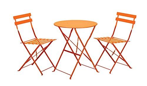 RoyalCraft Padstow Folding Bistro Set - Burnt Orange | eBay