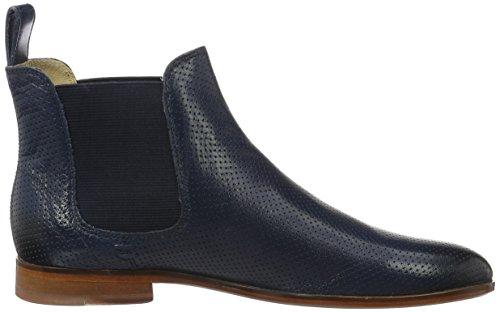 Melvin & Hamilton Damen Susan 10 Chelsea Boots Blau (Salerno Perfo Navy Ela Navy LS)