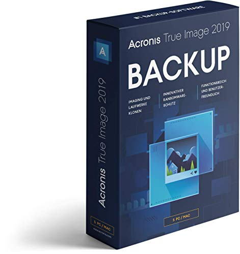 Acronis True Image 2019|5 PC|Mac - Pc-software