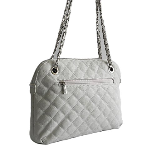 Jennifer Jones, Borsa a spalla donna Multicolore multicolore, bianco (Bianco) - 0 bianco