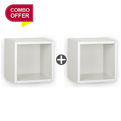 A10 Shop Cubox Storage unit- Open type, 30 cm wide x 30 cm high (Set of 2) - White