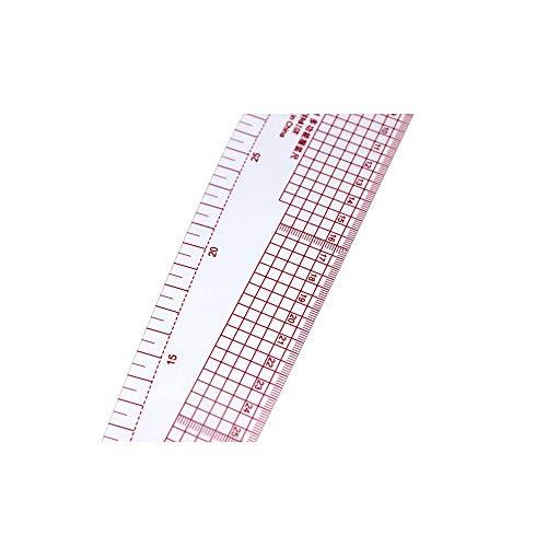Aofocy 2 unids 3 en 1 plástico francés curva métrica regla de costura medida para la costura sastre clasificación de patrones de regla