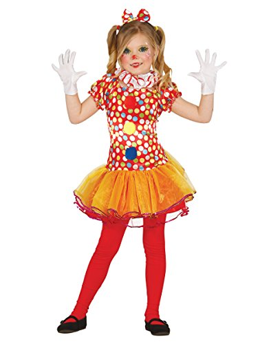 Clown Kostüm für Mädchen Gr. 98 - 146, Größe:140/146