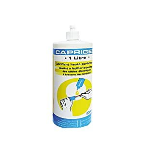 Capri CAP599990 Lubrifiant pour faciliter passage de câbles dans gaines Caprigel 1 L